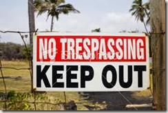 Interdiction d'entrée dans une palmeraie